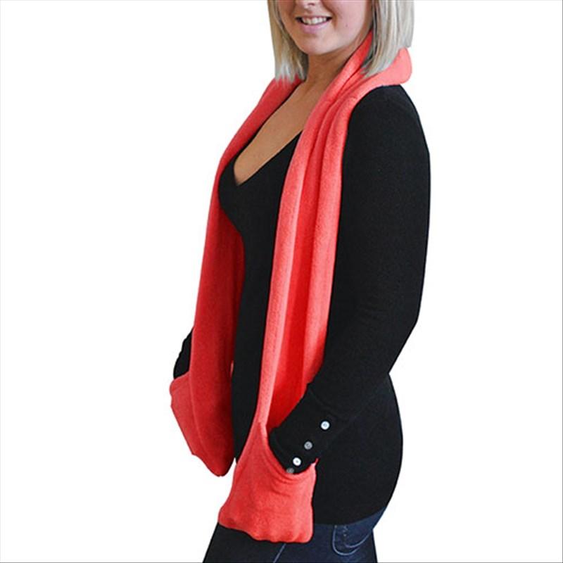 Écharpe chauffante avec poches - Rouge d3b48627531