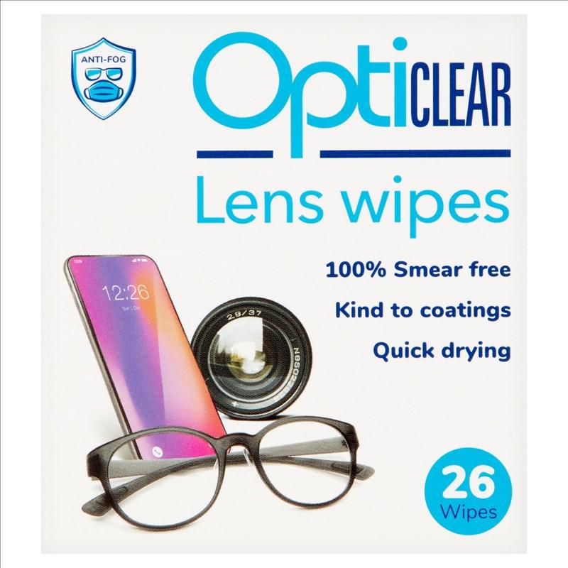 Lingettes nettoyantes pour lunettes Opticlear 0136da5de330