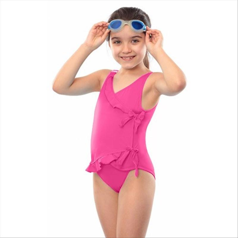 new lower prices competitive price buying cheap Maillot de bain incontinence avec rubans - fille - Rose - 9/10 ans