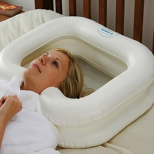 Utiliser un bac shampoing gonflable deluxe - Analyse de pratique toilette au lit ...