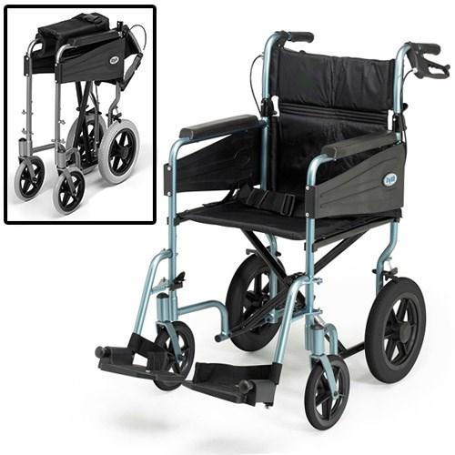 fauteuil roulant de transfert bleu large. Black Bedroom Furniture Sets. Home Design Ideas